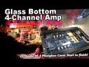 Glass Bottom 4 Channel Amp DC Audio 90 4 Custom Laser Cut Engraved Plexiglass Start to finish