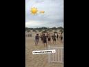 Датчане сыграли в футбол на пляже Анапы
