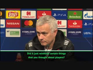 Q Jose, did you learn anything from the loss to Valencia - - A