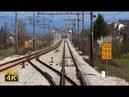 4K CABVIEW Koper - Ljubljana -- Adriatic Sea to inland Slovenia -- freight train travel