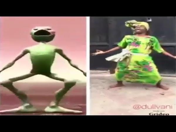 تقليد لرقصة الكائن الاخضر الجديدة 😂🌎🌌 ال157