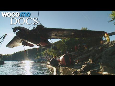 Versunkenes Kriegsflugzeug von 1939 taucht wieder auf! Eine Heinkel 111 wird geborgen