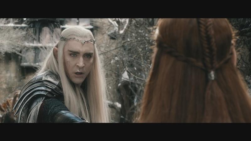 Тауриэль пытается остановить Трандуила. Леголас заступается за Тауриэль. HD