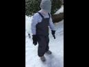 Лыжные штаны полукомбинезон демисезонный mingkids