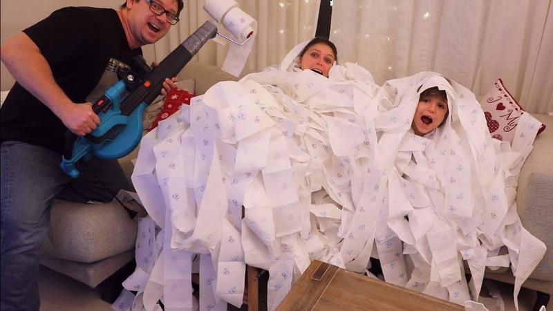 It is NOT NERF - It's Toilet Paper BLASTER
