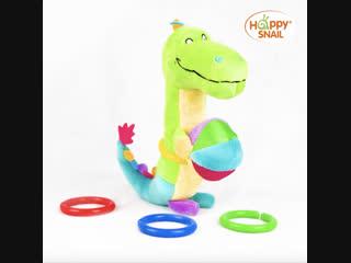Крокодил Кроко с забавными колечками от Happy Snail