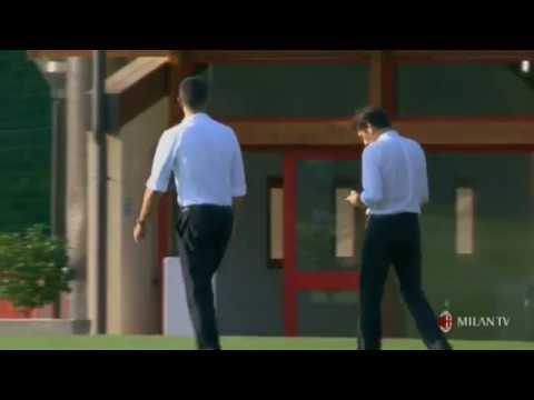 Maldini a Milanello - 1° allenamento