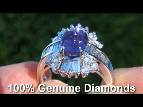 GIA CERTIFIED Purple Sapphire Diamond Ring - $2 Million Dollar Lifetime Jewelry Collection
