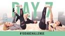 Испытание пресса 100 касаний пальцев ног Day 7 100 Toe Touches 100AbChallenge w Justine Jenna Ezarik