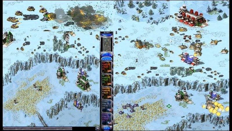 Red Alert 2 Yuris Revenge - PRO 2 vs 2 Game on the map Heck Freezes Over