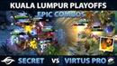 SECRET vs VP TOP 2 MATCH !! ONE OF THE MOST INTENSE SERIES of Kuala Lumpur Major - CRAZY Dota 2