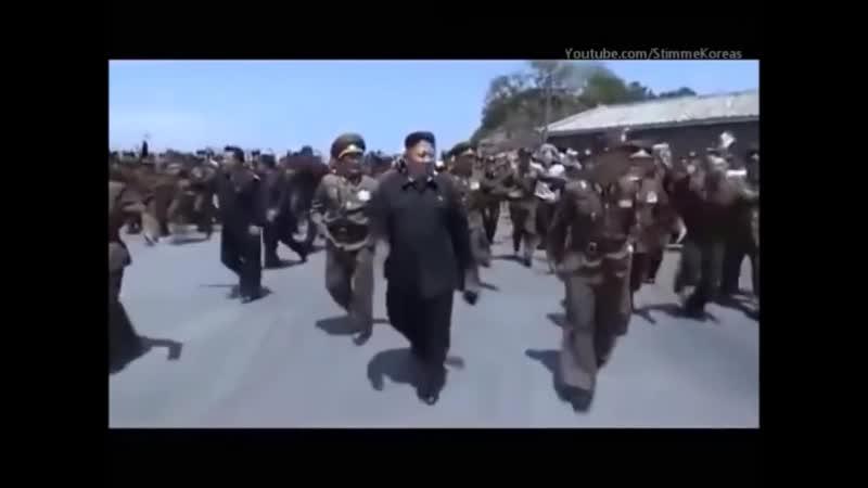 Песнь Ким Чен Ыну. Северокорейская провожальная.