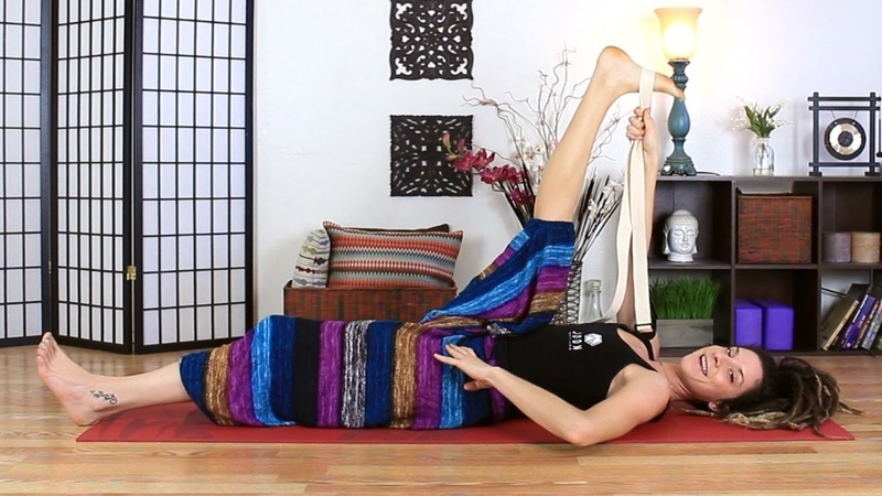 Hips Hamstring Stretches - Beginner Yoga Poses Exercises For Hip Mobility