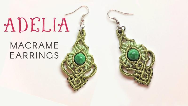 Macrame jewelry set tutorial - The Adelia earrings - Hướng dẫn thắt hoa tai Adelia