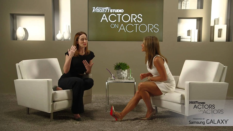Jennifer Aniston Emily Blunt at the Variety Studio Actors on Actors presented by Samsung Galaxy