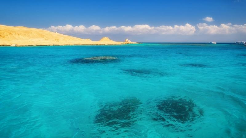 Красное море у острова Гифтун. Анимированное фото.