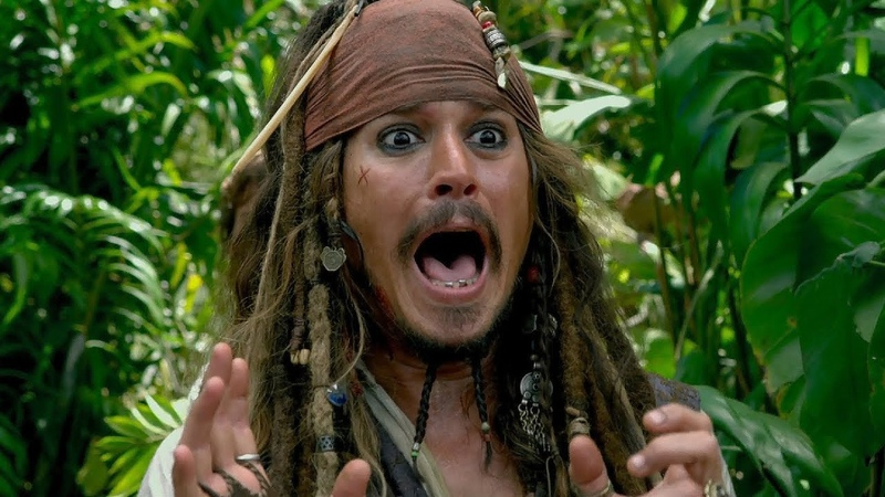 Джек прыгает с обрыва | Пираты Карибского моря: На странных берегах