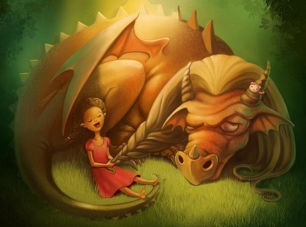 Как завести дракона (Пятничная рассказявка 308) Маргарита! Голос королевы, переходящий в крик, разлетелся по коридорам дворца. Упс! принцесса, игравшая во дворе замка с драконом, посмотрела на
