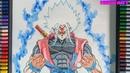 Vẽ Goku xeno Trạng Thái Masters Vô Cực Super Saiyan White Omni God