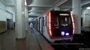 На новом поезде Москва по Филёвской линии метро 10 июля 2018