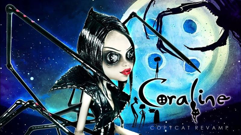 Doll Figurine CORALINE | Coraline's Other Mother | Halloween | Monster High Doll Repaint Ooak