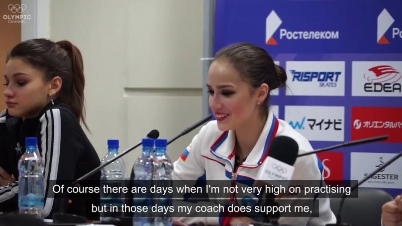 Alina Zagitova Press conference (Rostelecom Cup 2018)