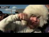 В Махачкале празднуют победу Нурмагомедова