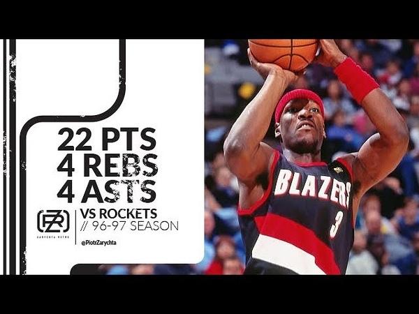 Clifford Robinson 22 pts 4 rebs 4 asts vs Rockets 96/97 season