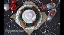 Новогодний подсвечник крючком из трикотажной пряжи (Christmas candle holder with your hands)