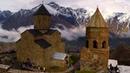 Gergeti's monastery in Kazbegi,Georgia