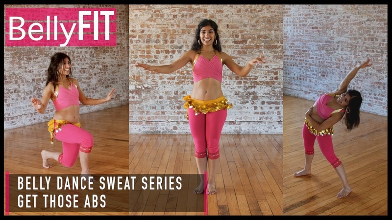15-Minute Belly Dance Sweat Workout | Abs Abs Abs