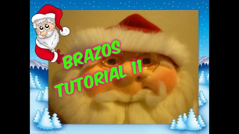 Muñecos soft-Papá Noel (Santa Claus)-parte 4 -brazos c mov- tutorial 11