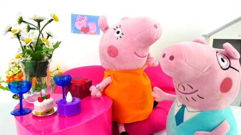 La cena romántica para Mamá Juguetes de Piggy Peppa peluche