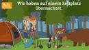 Deutsch lernen mit Dialogen / Lektion 35 / Satzstellung im Perfekt / Wortschatz Hotel