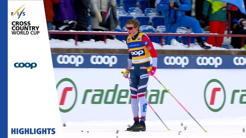 Highlights | Johannes Klaebo reigns supreme | Otepää | Mens Sprint | FIS Cross Country