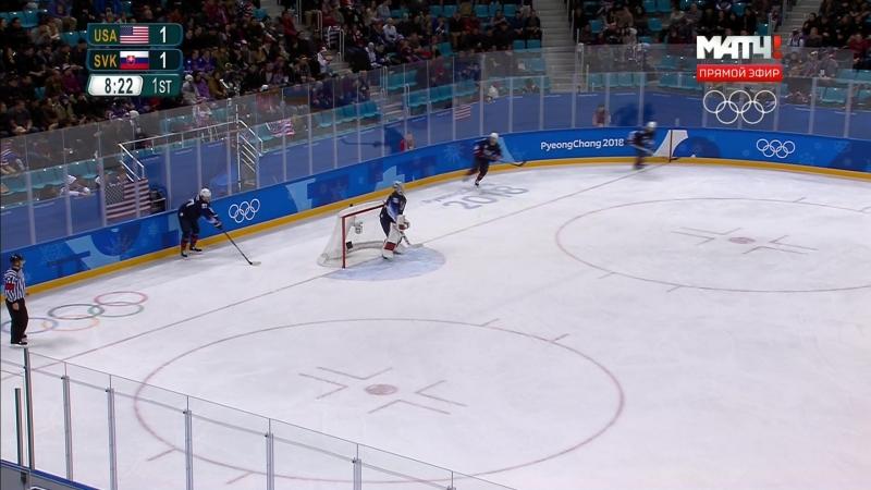 Зимняя олимпиада - 2018. Хоккей. Мужчины. Группа B. 2-й тур. США - Словакия. 1 часть. 16.02 06.10