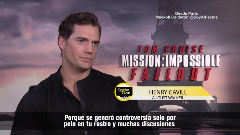 """Henry Cavill_ """"Quise hacer mis propias escenas de acción en Misión Imposible"""""""
