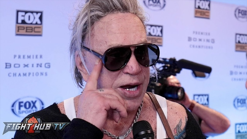 MICKEY ROURKE FURY'S A BRIGHT FIGHTER THAT CAN ADAPT! HE CAN MOVE PICK YOU APART!