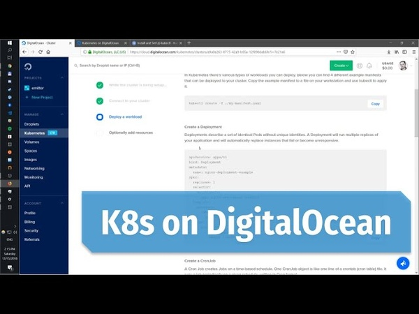 Setting up Kubernetes Cluster on DigitalOcean