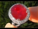Rare GIA Certified Pigeon Blood Red Burma Ruby Diamond Ring up for AUCTION eBay