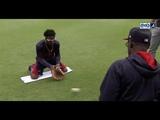 Chopcast LIVE Ron Washington runs Braves rookie Ozzie Albies through fielding drills