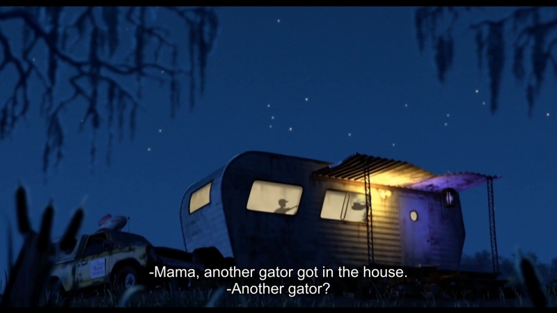 -Mama, another gator got in the house. -Another gator?