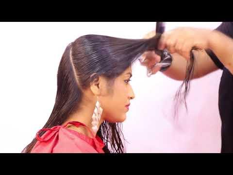 Face Framing Hair Cut On Medium Length Sam And Jas Tutorial In Hindi