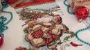 2. Вышивка крестом. Santa`s Journey Stocking Dimentions новогодний сапожок . Готовая работа