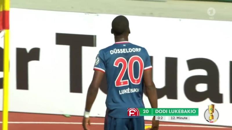 «TuS RW Koblenz» 0:5 «Фортуна Дюссельдорф» | Дубль Лукебакио