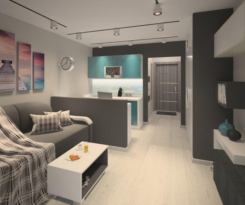 Проект квартиры-студии почти 26 м.