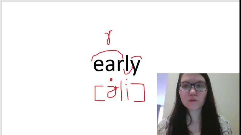 How to pronounce early