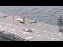 Varios medios publican un vídeo que muestra un OVNI triangular en la cubierta de un portaaviones