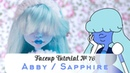 Faceup Tutorial №76 Abby Bominable( Sapphire Steven Universe ) OOAK doll repaint by WillStore