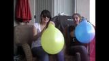 Baby powder balloon challenge great pops great success
